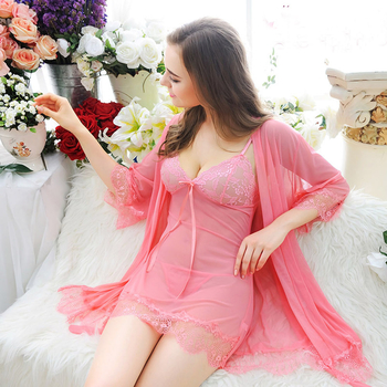 Newest Sexy Lingerie For Women Sexy underwear Ladies Lace Transparent Erotic Lingerie Conjoined Dress 3-Piece Suits