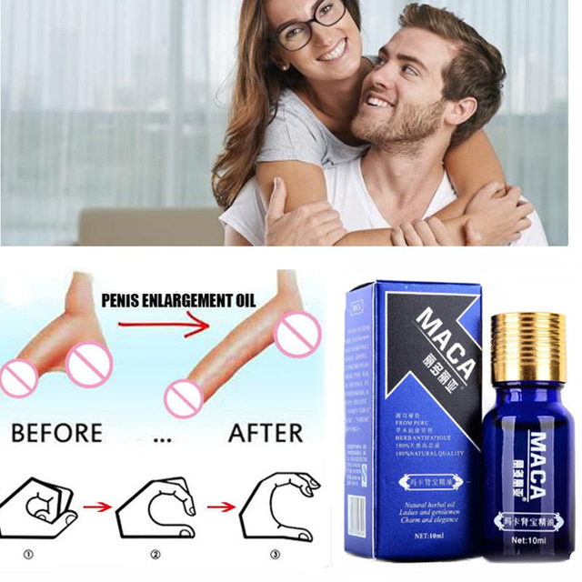 10ML Penis Enlargement Oil Enhancers Bigger Cream Care Penis Enlarge Oil Growth Pills Viagar Male Maca Thickening Erection Pills