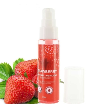 30ML Strawberry Flavor Edible Lubricant For Anal Vaginal Oral Sex Silicone Lubricating Oil Adult Sex Products Body Massage Gel