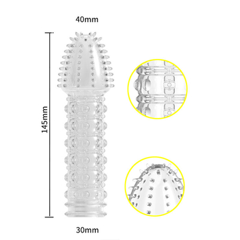 Belove 4pcs/set Reusable Condom Newest Crystal Cock Rings Adult Sex Products Sex Toys Penis Sleeves Penis Extension Enlargement For Men