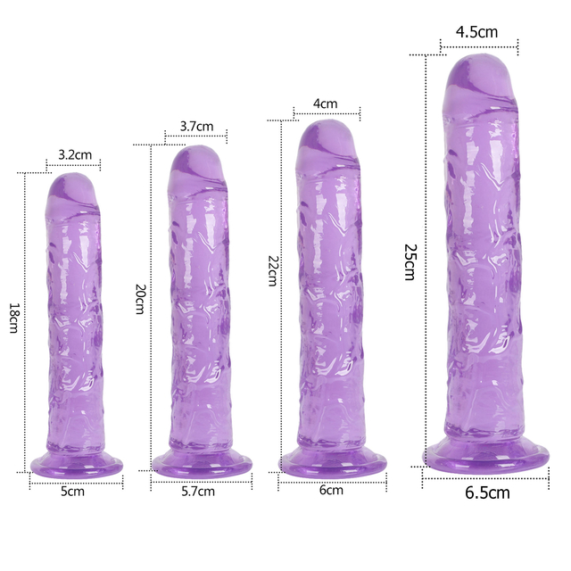 Strong Suction Cup Dildo Toy for Adult Erotic Soft Jelly Dildo Anal Butt Plug Realistic Penis G-spot Orgasm Sex Toys Female Masturbating Dildo