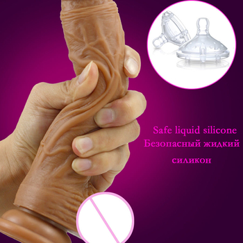 Belove Skin Feeling Realistic Dildo Soft Material Huge Big Penis With Suction Cup Sex Toys For Woman Strapon Female Masturbation