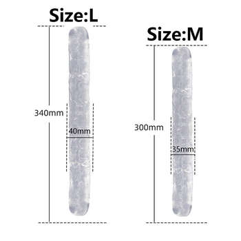 Double Head Dildo Long Jelly Realistic Dildo Double Ended Dildo Flexible Big Penis For Women Masturbator Sex Toys For Lesbian